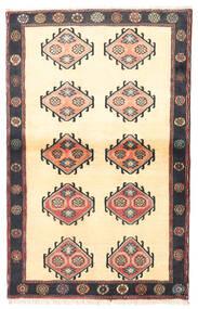 Klardasht Vloerkleed 97X150 Echt Oosters Handgeknoopt Beige/Zwart (Wol, Perzië/Iran)