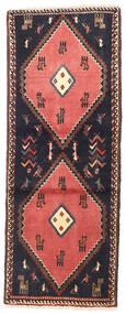Klardasht Vloerkleed 75X190 Echt Oosters Handgeknoopt Tapijtloper Donkergrijs/Donkerrood (Wol, Perzië/Iran)