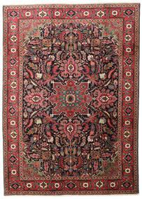 Heriz Vloerkleed 205X290 Echt Oosters Handgeknoopt Donkerrood/Zwart (Wol, Perzië/Iran)