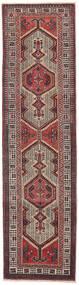 Sarab Patina Vloerkleed 87X327 Echt Oosters Handgeknoopt Tapijtloper Donkerbruin/Bruin (Wol, Perzië/Iran)