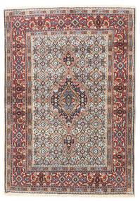 Moud Vloerkleed 80X114 Echt Oosters Handgeknoopt Lichtgrijs/Donkerbruin (Wol/Zijde, Perzië/Iran)