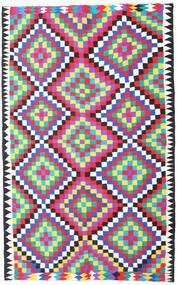Kelim Fars Vloerkleed 200X315 Echt Oosters Handgeweven Beige/Roze (Wol, Perzië/Iran)