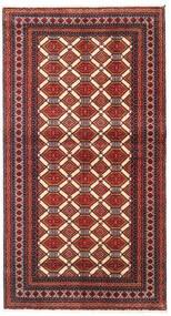 Beluch Vloerkleed 102X185 Echt Oosters Handgeknoopt Donkerrood/Donkerbruin (Wol, Perzië/Iran)