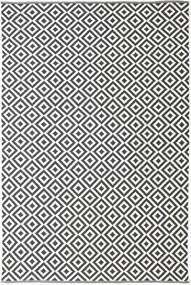 Torun - Zwart/Neutral Vloerkleed 200X300 Echt Modern Handgeweven Donkergrijs/Beige (Katoen, India)