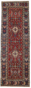 Heriz Patina Vloerkleed 105X305 Echt Oosters Handgeknoopt Tapijtloper Donkerrood/Donkergrijs (Wol, Perzië/Iran)