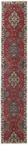Tabriz Patina Vloerkleed 80X430 Echt Oosters Handgeknoopt Tapijtloper Donkerrood/Donkerbruin (Wol, Perzië/Iran)