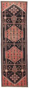 Hamadan Patina Vloerkleed 90X285 Echt Oosters Handgeknoopt Tapijtloper Zwart/Bruin (Wol, Perzië/Iran)