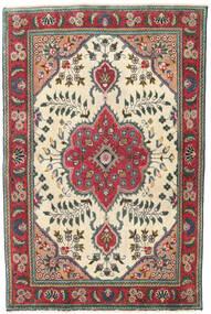 Tabriz Patina Vloerkleed 95X145 Echt Oosters Handgeknoopt Beige/Zwart (Wol, Perzië/Iran)