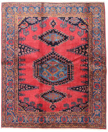 Wiss Vloerkleed 188X225 Echt Oosters Handgeknoopt Bruin/Zwart (Wol, Perzië/Iran)
