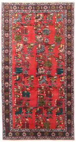 Ardebil Vloerkleed 139X256 Echt Oosters Handgeknoopt Donkerbruin/Rood (Wol, Perzië/Iran)