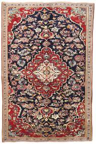 Yazd Vloerkleed 145X220 Echt Oosters Handgeknoopt Donkerpaars/Donkerrood (Wol, Perzië/Iran)