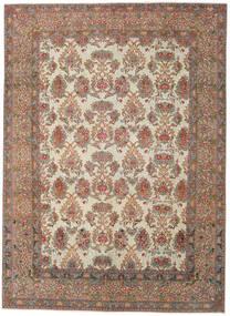 Najafabad Patina Vloerkleed 275X380 Echt Oosters Handgeknoopt Lichtgrijs/Donkerrood Groot (Wol, Perzië/Iran)