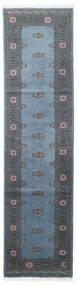 Pakistan Bokhara 2Ply Vloerkleed 78X304 Echt Oosters Handgeknoopt Tapijtloper Blauw/Donkerblauw/Donkergrijs (Wol, Pakistan)