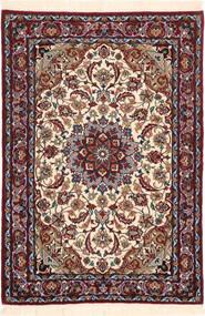 Isfahan Zijden Pool Vloerkleed 71X102 Echt Oosters Handgeknoopt Donkerbruin/Donkerrood (Wol/Zijde, Perzië/Iran)