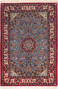 Isfahan Zijden Pool Vloerkleed 73X104 Echt Oosters Handgeknoopt Donkerrood/Bruin (Wol/Zijde, Perzië/Iran)