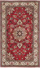 Tabriz 50 Raj Met Zijde Vloerkleed 75X128 Echt Oosters Handgeknoopt Donkerbruin/Donkerrood (Wol/Zijde, Perzië/Iran)