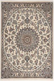 Nain 6La Vloerkleed 98X141 Echt Oosters Handgeknoopt Lichtgrijs/Beige (Wol/Zijde, Perzië/Iran)