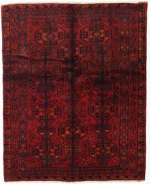 Lori Vloerkleed 155X190 Echt Oosters Handgeknoopt Donkerrood/Donkerbruin (Wol, Perzië/Iran)