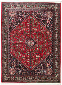 Abadeh Vloerkleed 154X210 Echt Oosters Handgeknoopt Donkerrood/Zwart (Wol, Perzië/Iran)