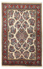Sarough Vloerkleed 103X163 Echt Oosters Handgeknoopt Zwart/Donkerrood (Wol, Perzië/Iran)