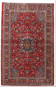 Sarough Vloerkleed 105X165 Echt Oosters Handgeknoopt Donkerrood/Donkerbruin (Wol, Perzië/Iran)