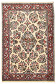 Sarough Vloerkleed 106X160 Echt Oosters Handgeknoopt Donkergrijs/Donkerbeige (Wol, Perzië/Iran)