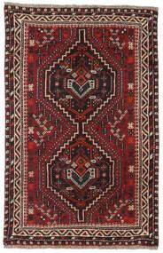 Shiraz Vloerkleed 81X124 Echt Oosters Handgeknoopt Donkerrood/Donkerbruin (Wol, Perzië/Iran)