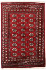 Pakistan Bokhara 2Ply Vloerkleed 126X186 Echt Oosters Handgeknoopt Donkerrood/Rood (Wol, Pakistan)