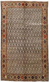 Ghashghai Vloerkleed 155X258 Echt Oosters Handgeknoopt Lichtbruin/Donkerbruin (Wol, Perzië/Iran)