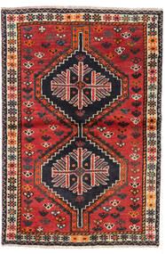 Shiraz Vloerkleed 106X156 Echt Oosters Handgeknoopt Donkerbruin/Roestkleur (Wol, Perzië/Iran)