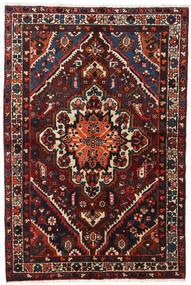Bakhtiar Vloerkleed 140X210 Echt Oosters Handgeknoopt Zwart/Donkerrood (Wol, Perzië/Iran)