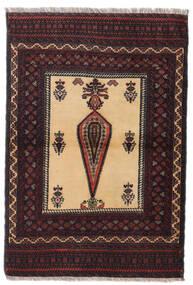 Beluch Vloerkleed 88X126 Echt Oosters Handgeknoopt Donkerrood/Donkerbruin (Wol, Perzië/Iran)