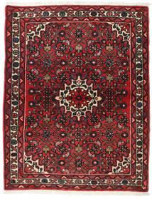 Hamadan Vloerkleed 113X142 Echt Oosters Handgeknoopt Donkerrood/Donkerbruin (Wol, Perzië/Iran)