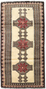 Ghashghai Vloerkleed 101X197 Echt Oosters Handgeknoopt Donkergrijs/Lichtbruin (Wol, Perzië/Iran)