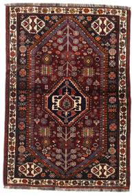 Ghashghai Vloerkleed 105X154 Echt Oosters Handgeknoopt Donkerbruin/Donkerrood (Wol, Perzië/Iran)