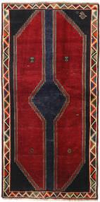 Ghashghai Vloerkleed 105X212 Echt Oosters Handgeknoopt Rood/Zwart (Wol, Perzië/Iran)