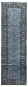 Pakistan Bokhara 2Ply Vloerkleed 78X250 Echt Oosters Handgeknoopt Tapijtloper Blauw/Donkergrijs (Wol, Pakistan)