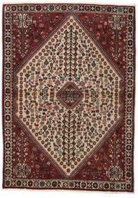 Abadeh Vloerkleed 110X150 Echt Oosters Handgeknoopt Donkerrood/Lichtbruin (Wol, Perzië/Iran)