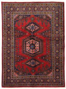Wiss Vloerkleed 162X220 Echt Oosters Handgeknoopt Donkerrood/Donkerpaars (Wol, Perzië/Iran)