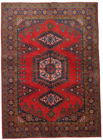 Wiss Vloerkleed 155X215 Echt Oosters Handgeknoopt Donkerrood/Donkerbruin (Wol, Perzië/Iran)