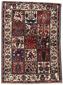 Bakhtiar Vloerkleed 110X151 Echt Oosters Handgeknoopt Donkerbruin (Wol, Perzië/Iran)