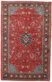 Sarough Vloerkleed 135X215 Echt Oosters Handgeknoopt Donkerrood/Roestkleur (Wol, Perzië/Iran)