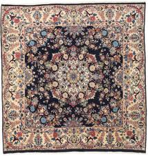 Mashad Vloerkleed 192X198 Echt Oosters Handgeknoopt Vierkant Beige/Donkerbruin (Wol, Perzië/Iran)