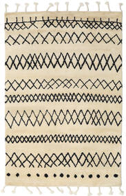 Beni Berber Vloerkleed 180X275 Echt Modern Handgeknoopt Beige/Donkergrijs (Wol, India)