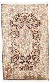 Kashmir Puur Zijde Vloerkleed 78X127 Echt Oosters Handgeknoopt Beige/Lichtbruin (Zijde, India)