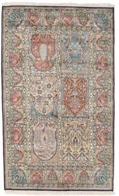 Kashmir Puur Zijde Vloerkleed 98X161 Echt Oosters Handgeknoopt Lichtgrijs/Donkergrijs (Zijde, India)