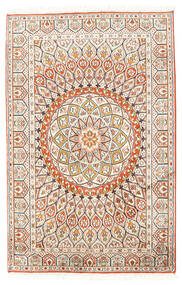 Kashmir Puur Zijde Vloerkleed 80X124 Echt Oosters Handgeknoopt Beige/Lichtgrijs (Zijde, India)