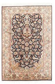 Kashmir Puur Zijde Vloerkleed 63X94 Echt Oosters Handgeknoopt Beige/Donkergrijs (Zijde, India)