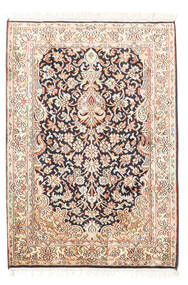 Kashmir Puur Zijde Vloerkleed 65X94 Echt Oosters Handgeknoopt Beige/Wit/Creme (Zijde, India)