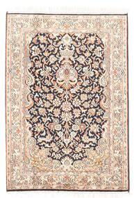 Kashmir Puur Zijde Vloerkleed 65X93 Echt Oosters Handgeknoopt Wit/Creme/Donkergrijs (Zijde, India)